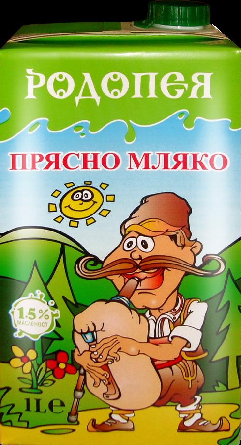 Прясно мляко Родопея 1,5 1л.