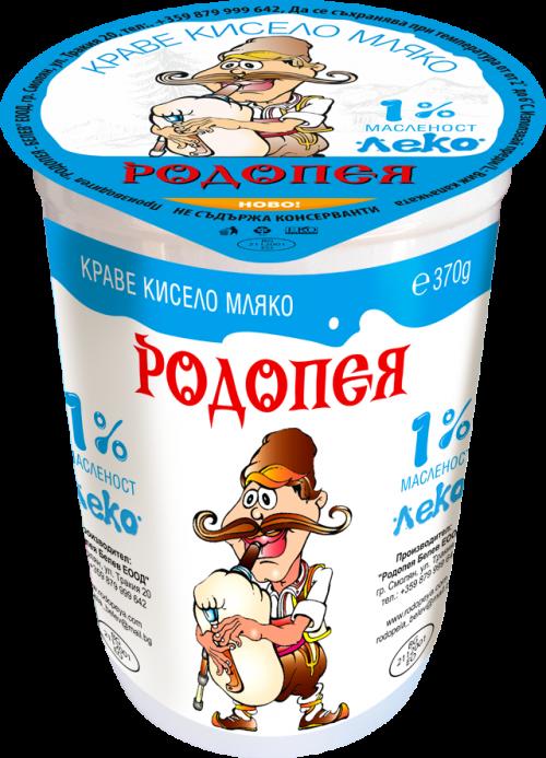 Краве кисело мляко Родопея леко 1  0,370гр.