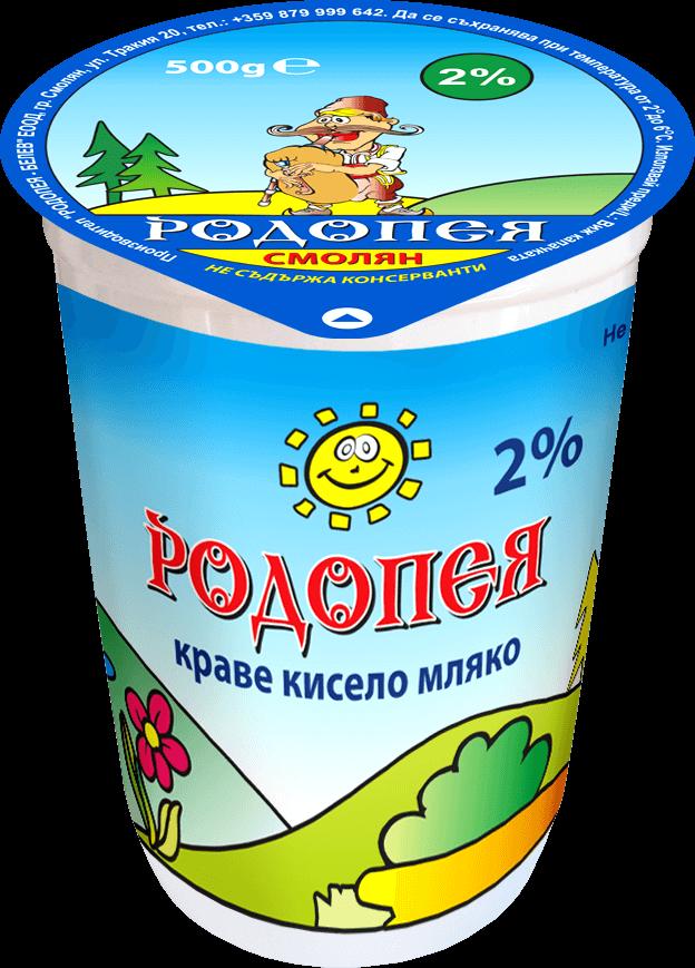 Краве кисело мляко Родопея 2 0,500гр.
