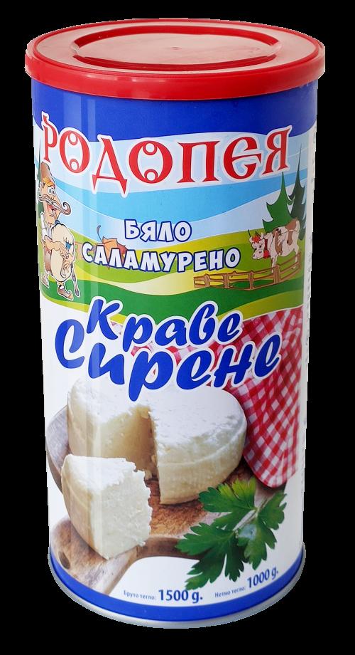 Бяло саламурено сирене Родопея - шайба