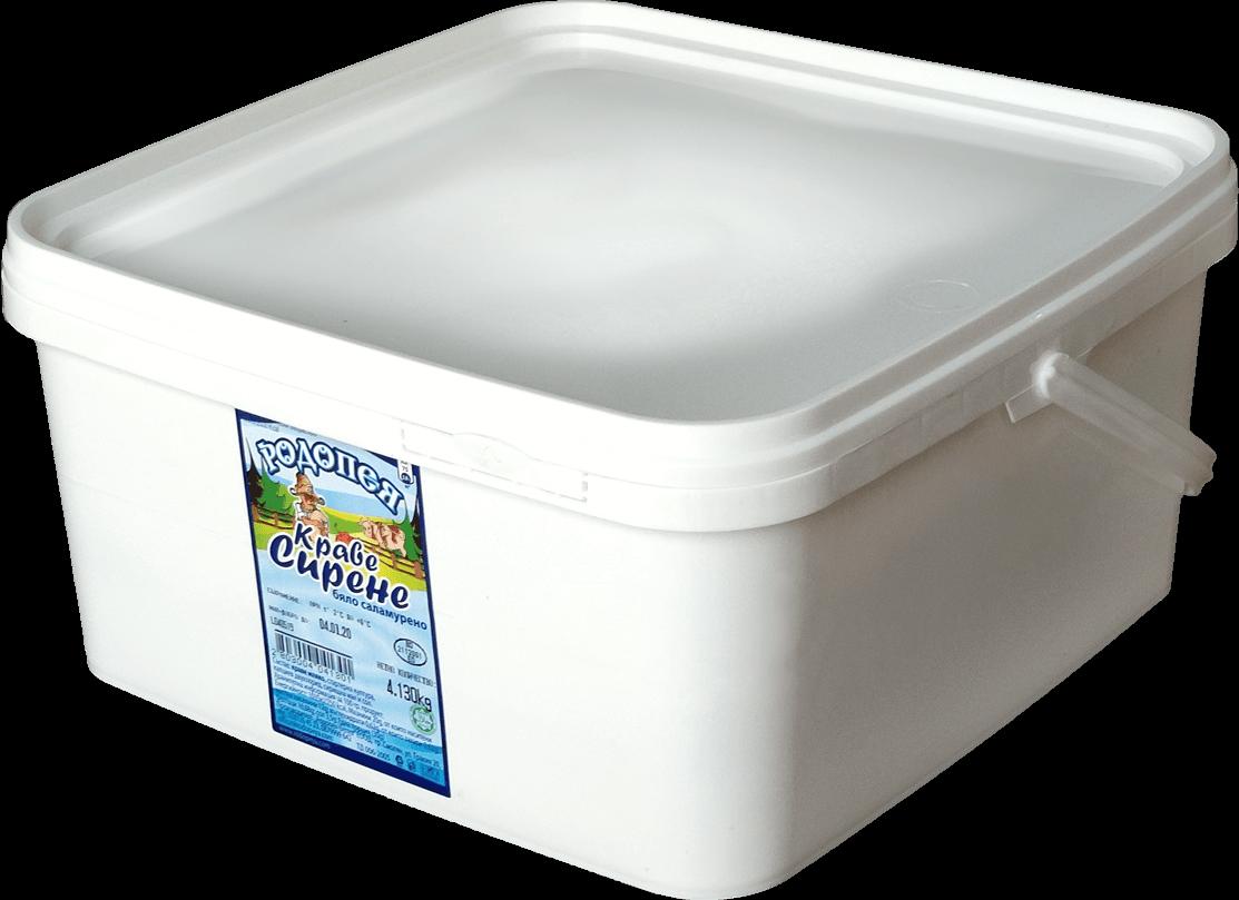 Бяло саламурено сирене Родопея - кофа 4кг.