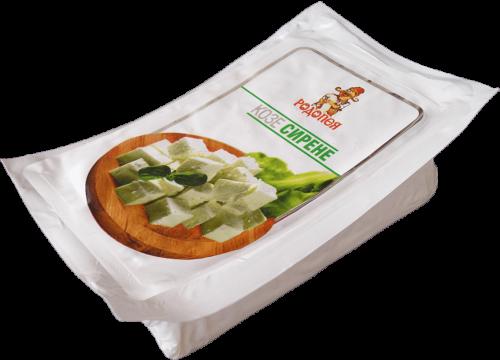 Бяло саламурено сирене от козе мляко Родопея - ваккум 0,200гр.