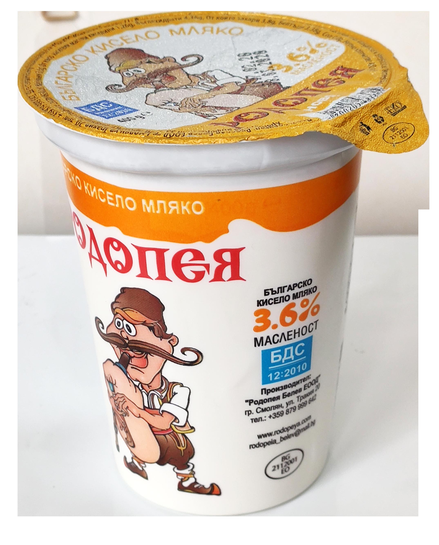 Краве кисело мляко Родопея 3,6 0,400гр. БДС