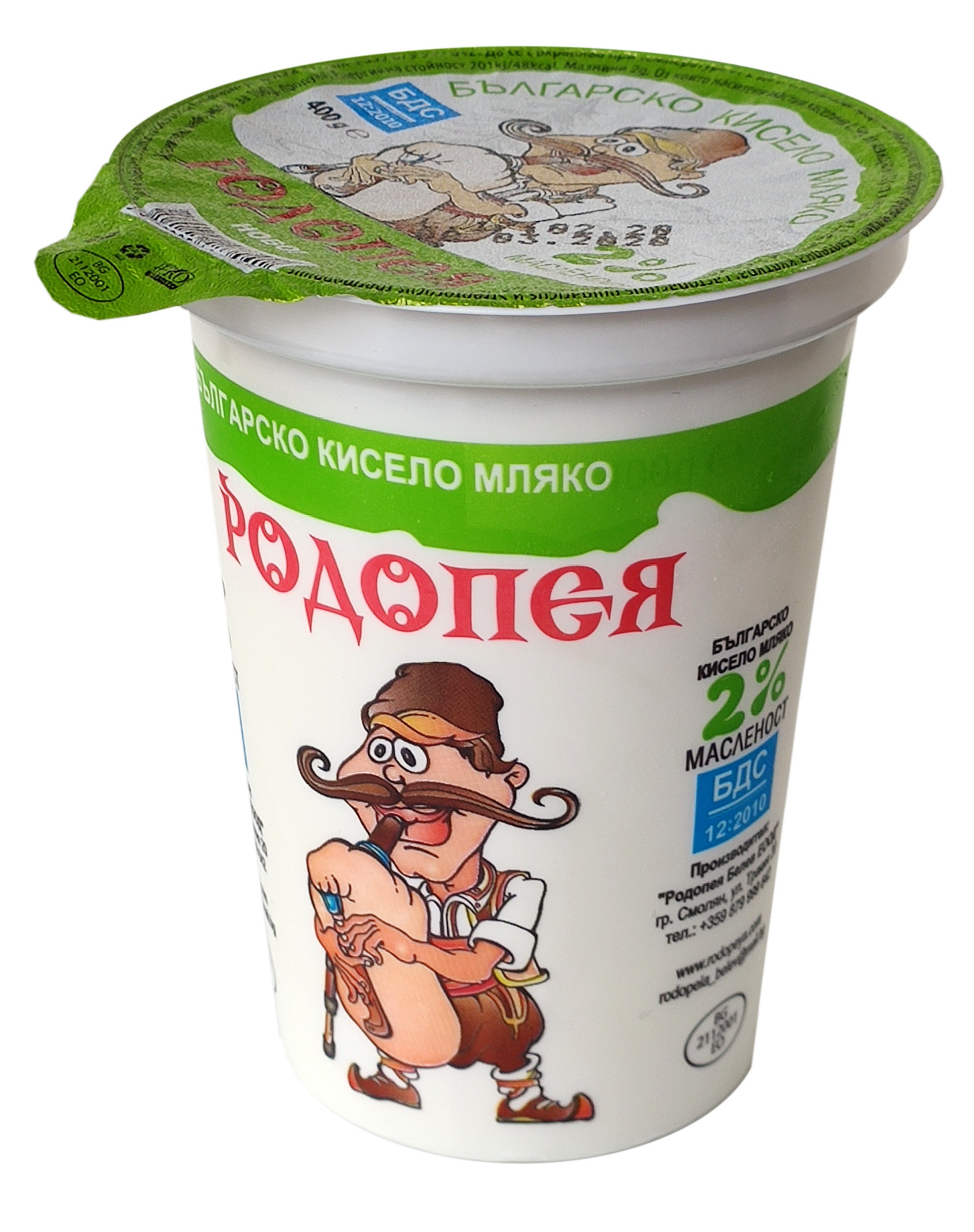Краве кисело мляко Родопея 2 0,400гр. БДС
