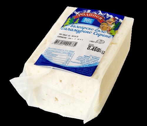 Бяло саламурено сирене Родопея ваккум по БДС