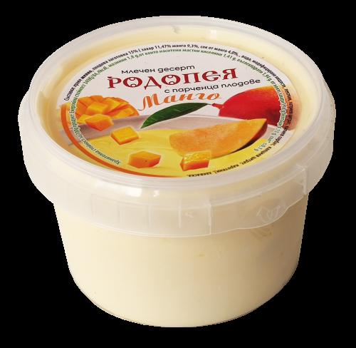 Млечен десерт Родопея с парченца манго 0,250г.