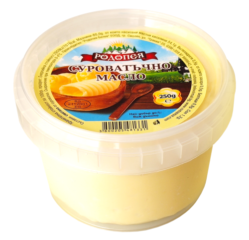 Суроватъчно масло Родопея . Маслото е солено !!!